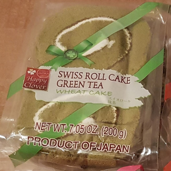 Happy Clover Green Tea Swiss Cake Roll 4 Pack