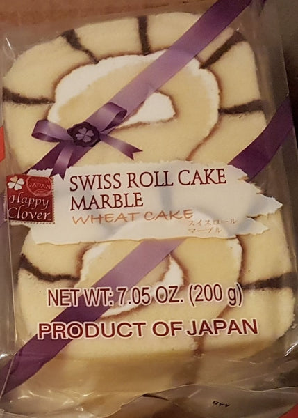 Happy Clover Marble Swiss Cake Roll 4 Pack