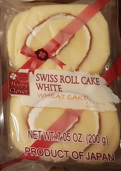 Happy Clover White Swiss Cake Roll 4 Pack