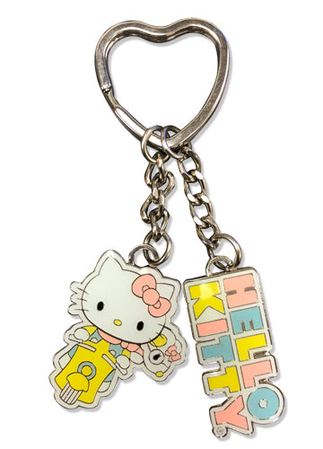 Hello Kitty Adventure Enamel Metal Keychain