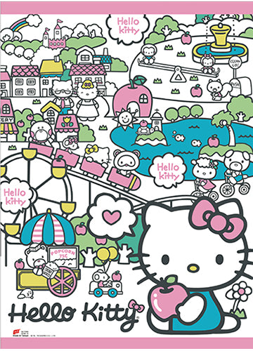 Hello Kitty Happy Land Wall Scroll