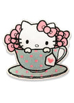 Hello Kitty In Tea Cup Sew On Patch