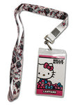 Hello Kitty Pink Ribbon Present Lanyard