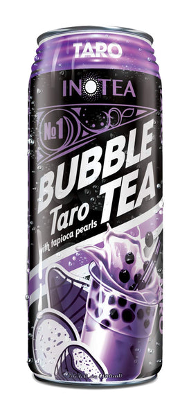 InTea Taro Bubble Milk Tea With Tapioca Pearls Canned Drink