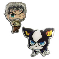 Jojo's Bizarre Adventure Iggy and Joseph Pins Shadow Anime
