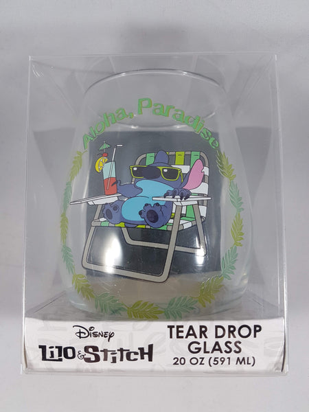 Lilo & Stitch Aloha Paradise Tear Drop Wine Glass 16 oz