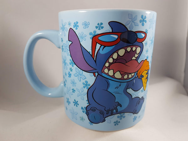 Lilo & Stitch Eating Ice Cream Cone Mug 20oz