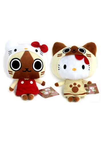Monster Hunter x Hello Kitty - Airou Plushes (Set of 2) Shadow Anime