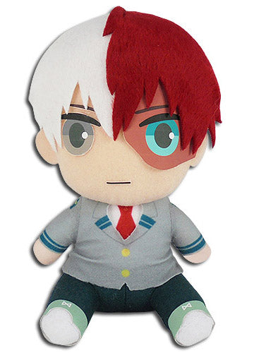"My Hero Academia Shoto Todoroki School Uniform 7"" Sitting Pose Plush Doll"