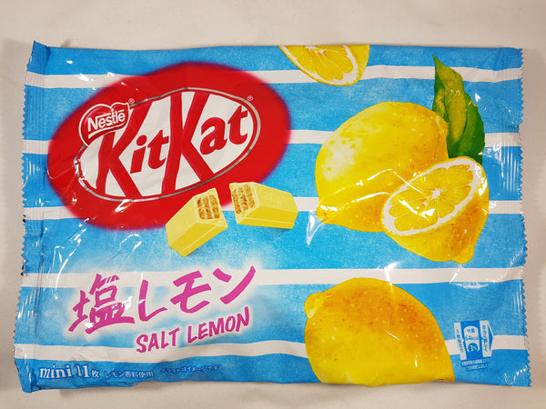 Nestle Japanese Kit Kat Salt Lemon Limited Edition Front