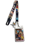 One Piece Straw Hat Line-up Lanyard W/ Skull Charm