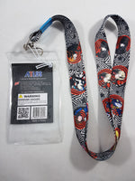 Persona 5 Group Lanyard W/ ID Badge Holder Back