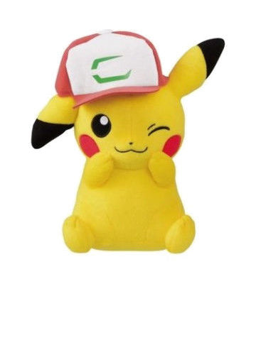 Pokemon Pikachu Wearing Ash Hat Plush Doll