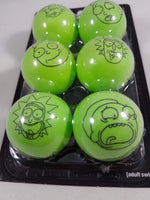 Rick and Morty Ping Pong Ball Set Close Up Bottom