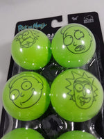 Rick and Morty Ping Pong Ball Set Close Up Top