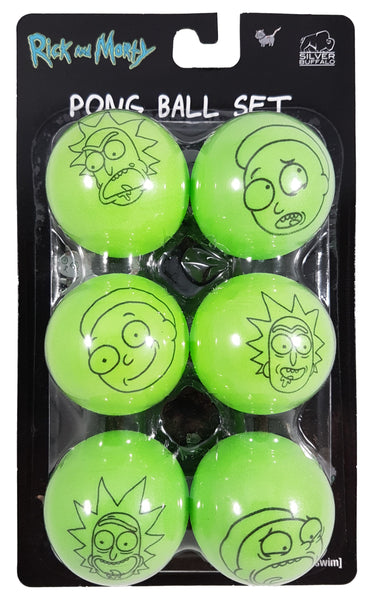 Rick and Morty Ping Pong Ball Set