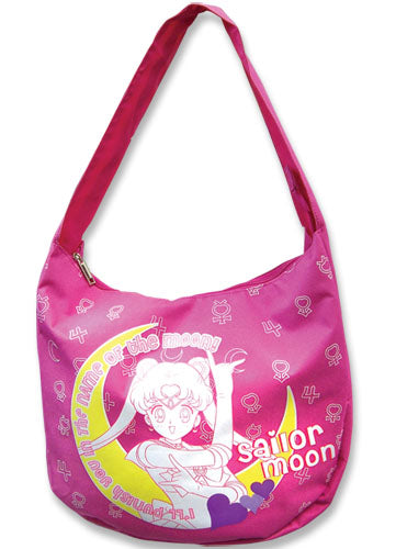Sailor Moon I'll Punish You Pink Tote Handbag W/ Symbols