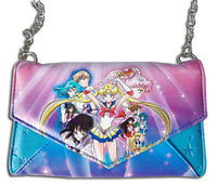Sailor Moon S Envelope Button Wallet W/ Chain