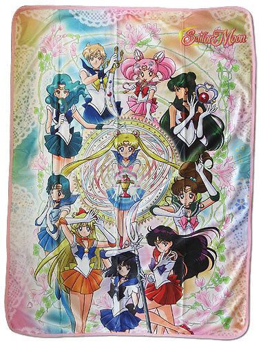 Sailor Moon S Group Sublimation Throw Blanket