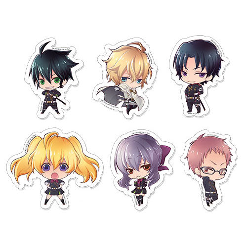 Seraph of The End Characters Sticker Set