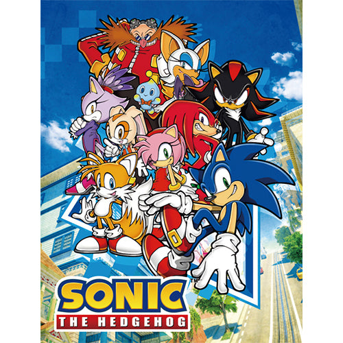 Sonic The Hedgehog Big Group Throw Blanket