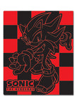 Sonic The Hedgehog Shadow Black & Red Throw Blanket