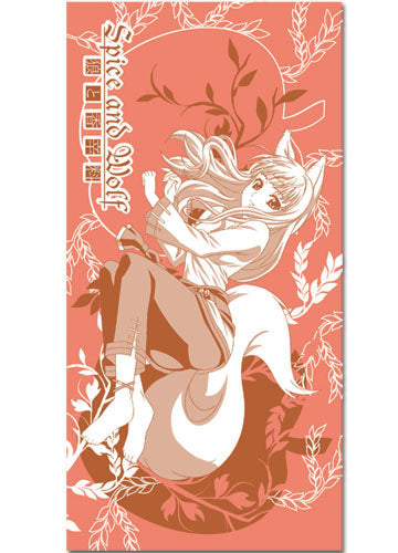 Spice and Wolf Holo With Apple Bath Towel