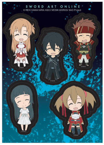 Sword Art Online Happy Characters Sticker Set