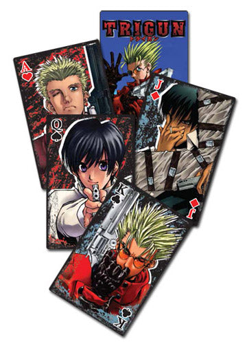 Trigun Character Poker Playing Cards