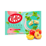 Nestle Japanese Kit Kat Peach Mint Flavor Limited Edition Stock Photo