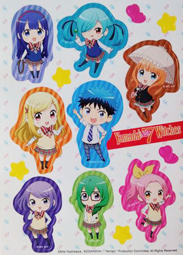 Yamada Kun and The Seven Witches Characters Sticker Set