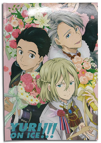 Yuri On Ice!!! Group Flowers Journal Hardcover Notebook