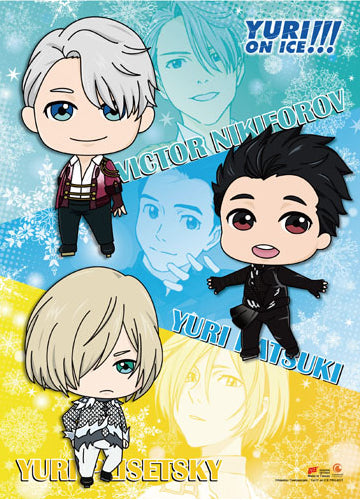Yuri On Ice SD Characters Wall Scroll