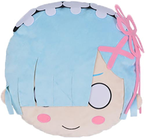 "Sega Re:Zero Rem Face 20"" Plush Pillow Cushion Ver. 2"