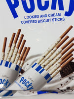 Cookies and Cream Pocky Family Pack 3.95 oz (9 Pack) Close Up