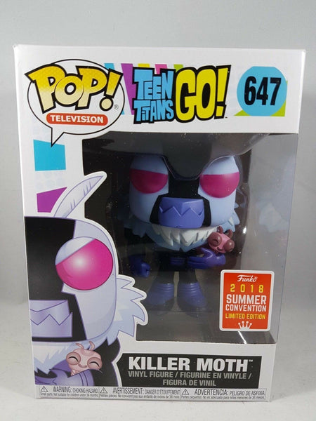 Teen Titans Go! Killer Moth Funko POP Figure #647 SDCC 2019 Summer Exclusive