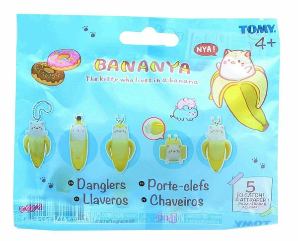 Tomy Bananya Blind Bag Dangler Keychain One Random Blind Bag