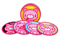 Gloomy Bear Faces Tin Coasters Set of 4