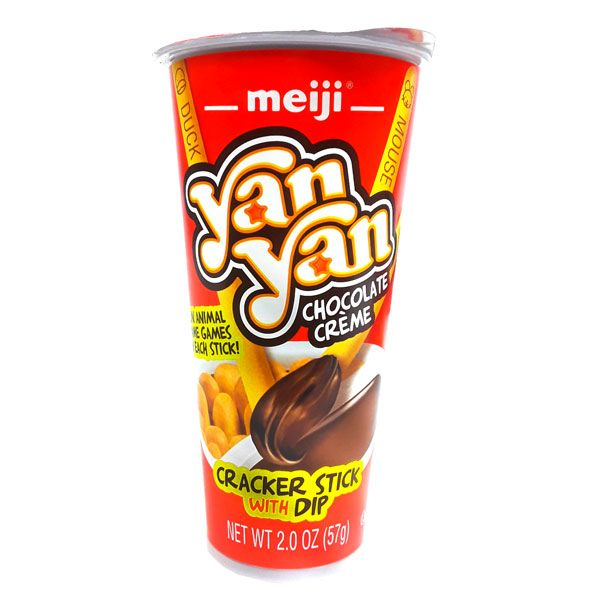 Meiji Yan Yan Chocolate Cream Biscuit Sticks W/ Dip 2 oz