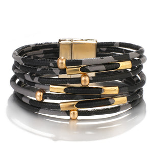 Multi Layer Leather Bracelets