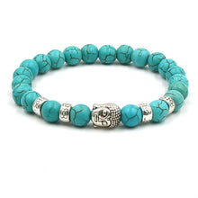 Load image into Gallery viewer, Buddha Head Stone Bracelet