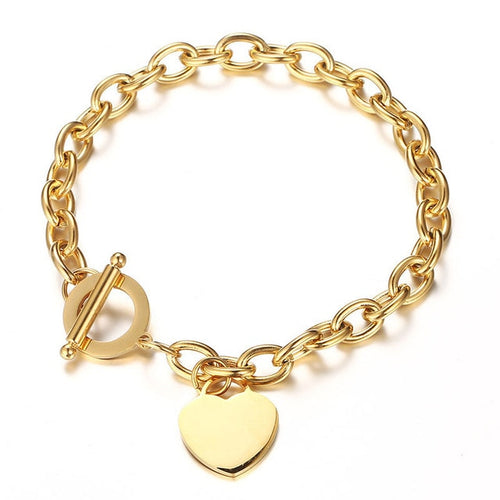 Chain Heart Charms Bracelet