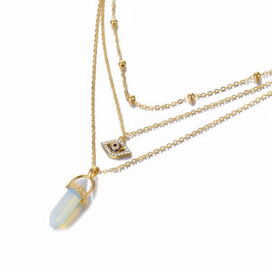 Crystal Bullet Chain Pendant