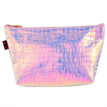 Load image into Gallery viewer, Holographic Croc Print Notions Pouch