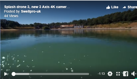 Another Splash Drone 3 Video with a 3 Axis Gimbal