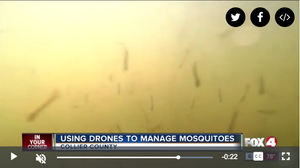 Splash Drone waterproof drone being used for mosquito control
