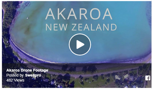 Enjoying Akaroa with Splash Drone 3