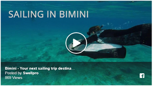 Sailing in Bimini with a Splash Drone