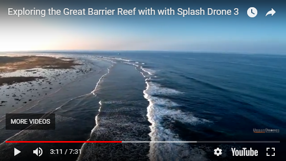 Splash Drone 3 at the Great Barrier Reef