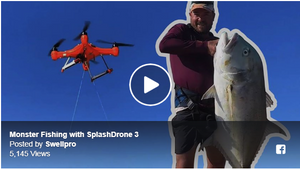 Fishing and Shark Catching and Releasing with Splash Drone 3